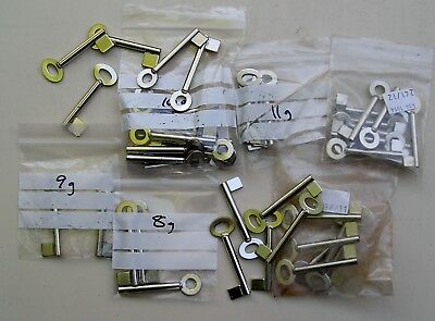 Assorted lot of Cabinet Pipe Key Blanks, Gauges 8,9,10,11 & 12