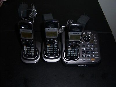 Panasonic KX-TG9341T Talking Caller ID DECT 6.0 + 3 Handsets Cordless Phones