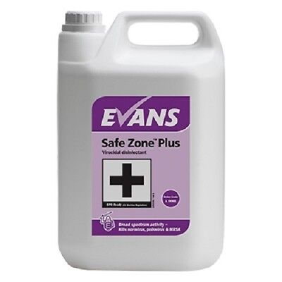 Evans Vanodine SAFE ZONE PLUS virucidial sanitiser 5 Ltr