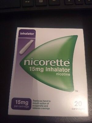 Nicorette Inhalator 15 mg, 20 Cartridges, new in box