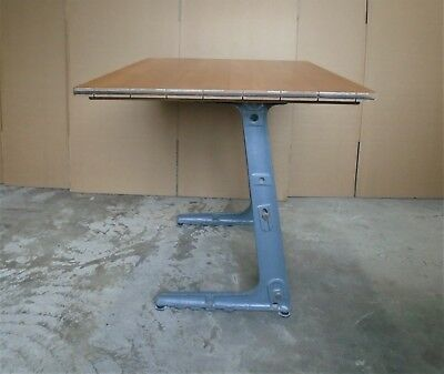 Vintage Industrial Cast Iron Desk      Delivery Available