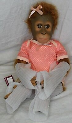 Annabelle's Hugs Lifelike Baby Monkey Doll By Ina Volprich NOB