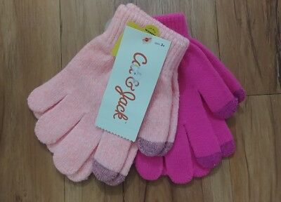 2 Pack Girls Cat and Jack Tech Touch Gloves