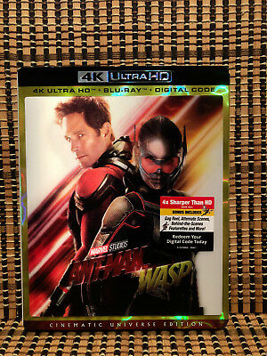 Ant-Man And The Wasp 4K (2-Disc Blu-ray, 2018)+3D Slipcover.Avenger/Marvel.Part2