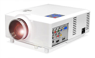 "Pyle PRJD904 Widescreen LED Projector up to 100"" W/ Speakers  Supports 1080p"
