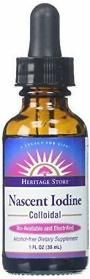 Nascent Colloidal Iodine by Heritage Store 1 fluid ounce