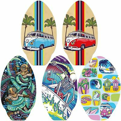 "Skim Board Wooden Skimboard 30"" Oval Surf Skimmer 7 Ply Wood Surfing"