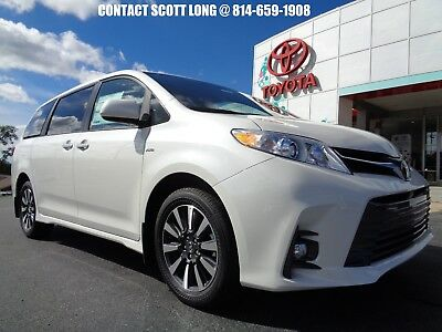 2019 Toyota Sienna New 2019 Sienna All Wheel Drive XLE Nav Package New 2019 Sienna XLE AWD Blizzard Pearl Navigation Leather Sunroof All Wheel Dr