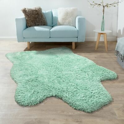 XXL Long Pile Rug Faux Fur Polar Bear Flokati Style Soft High-Quality Now In Gre