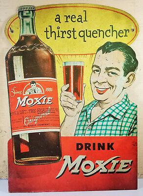 Drink Moxie A Real Thirst Quencher Heavy Duty Metal General Store Soda Pop Sign