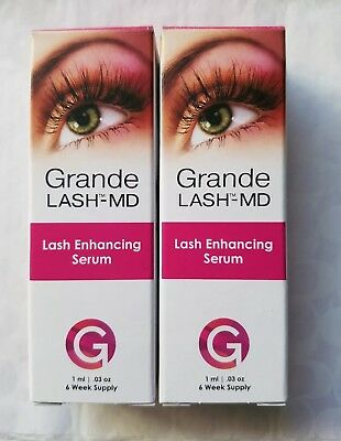 f68f3e3f501 2 GRANDE LASH-MD * LASH ENHANCING SERUM 6 Week SEALED Supply * 1 ml ...