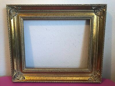 Beautiful Ornate Antique Gold Gilt Gesso Wood Picture Frame  Made In Holland