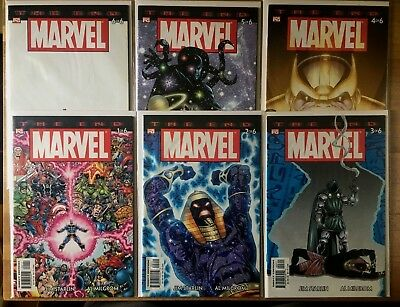 Marvel Universe: The End #1,2,3,4,5,6 SET (VF/NM-NM) THANOS Infinity Gauntlet