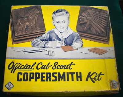Vintage Boy Scout - Official Cub Scout Coppersmith Kit