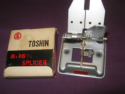 VINTAGE TOSHIN SANSHO JAPAN 8mm & 16mm FILM SPLICER BOXED WITH INSTRUCTIONS