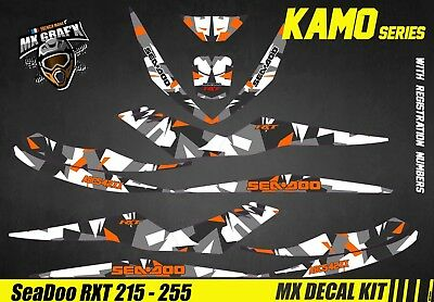 Kit Déco pour / Decal Kit for Jet Ski Sea-Doo RXT 215 / 255 - Kamo Orange
