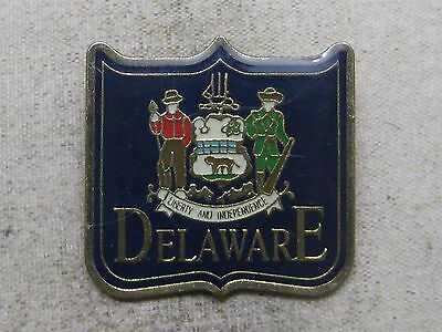 Delaware State Travel Souvenir Lapel Pin ~ Liberty And Independence
