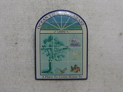 Ocean View Delaware Travel Souvenir Lapel Pin ~ A Place To Come Home To
