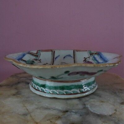 Antique Chinese Porcelain Enamel Footed Bowl