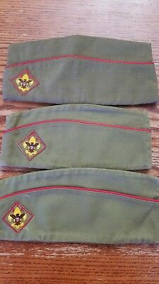 Lot of 3 old Boy Scout Hats