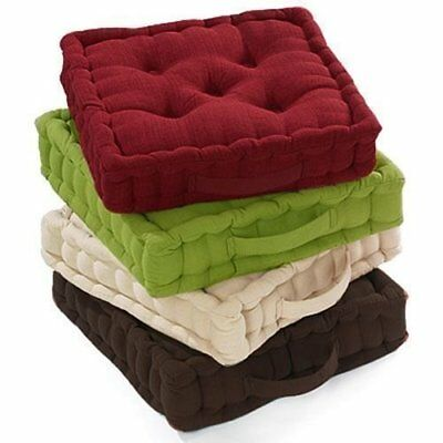 100% Cotton Covered Booster Cushion Thick Seat Pads Adults Chair/Armchair/Garden