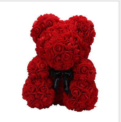 2018 Newly Valentine Giant Large Teddy Bear Red Rose Flower Bear Toys Gifts 45cm