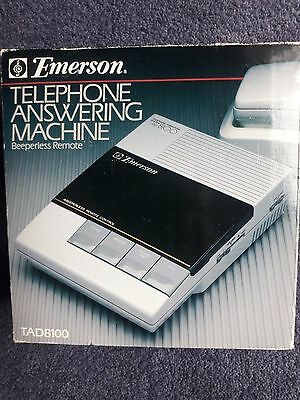 Vintage Emerson Telephone Answering Machine, Beeperless Remote, TAD8100,New,