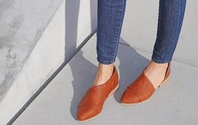 Woman's Size 5.5 Cognac Cut Out Booties Brand New in Box