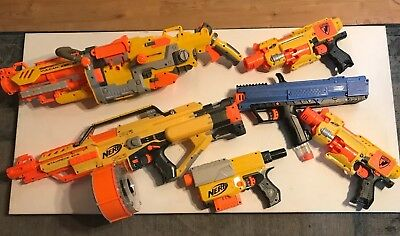 Nerf Gun Lot of 6 Stampede, Vulcan,Rival 700, Barricade RV-10 and more!