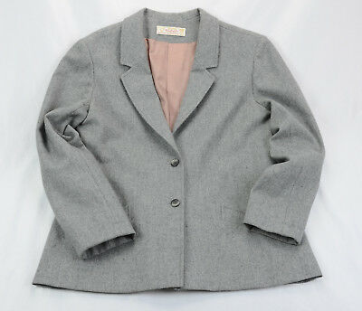 Young Pendleton Wool Blazer 15-16 Gray Two Button One Back Vent