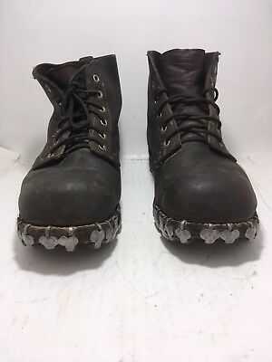 German WW2 Mountian Troop Leather Boots Size 10 Hob Nail Post War Swiss Made