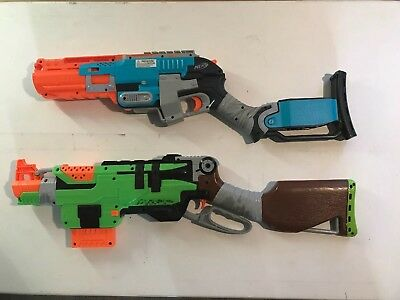 Nerf Gun Lot Sledgefire and Slingfire Great Working Condition!
