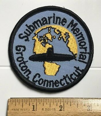 Submarine Memorial Groton Connecticut CT US Navy Naval Sub Embroidered Patch