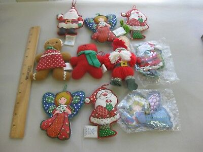 Hallmark Vintage Yarn and Fabric Christmas Ornaments and Other Items- some NIP