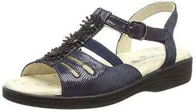 fe14318b9a2 Rp£60 Padders Sunrise Size Uk 3 Eee Extra Wide Fit Blue Flat Comfy Shoes
