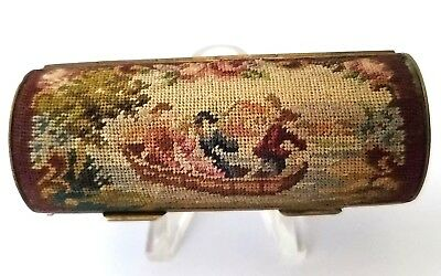Antique Austria SCENIC Micro Petit Point Lipstick / Perfume Holder Compact. SEE!