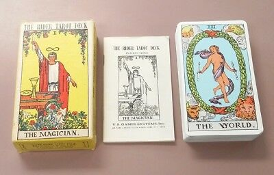 The Rider Tarot Deck Vintage 1971 Made in Switzerland - Waite 78 Cards Complete