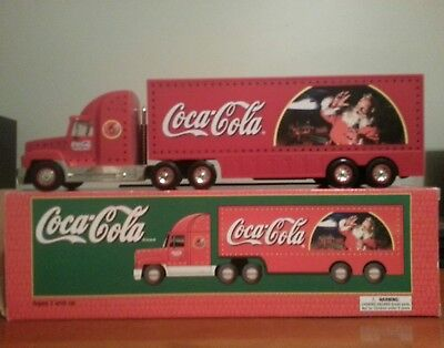 toy coke cola tractor trailer