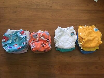 Motherease Cotton Nappies and Modern Cloth Nappies Bundle, Great Used Condition