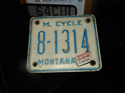 Montana 1980 motorcycle license plate