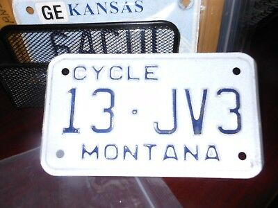 Montana motorcycle license plate, never issued