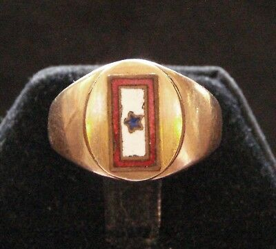 Vintage WWII US Son-In-Service Gold Ring