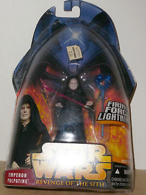 STAR WARS REVENGE OF THE SITH, EMPEROR PALPATINE. 4 in. Action figure. Very good