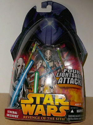 STAR WARS REVENGE OF THE SITH, GENERAL GRIEVOUS. 4 in. Action figure. Very good