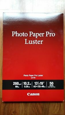 Canon Lu 101 Photo Paper Pro Luster 102gsm 102 Mil 13x19 50