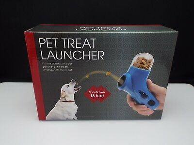 Pet Treat Launcher Food Snack Training Feeder Fun Cat Puppy Dog Play Toy 16 ft