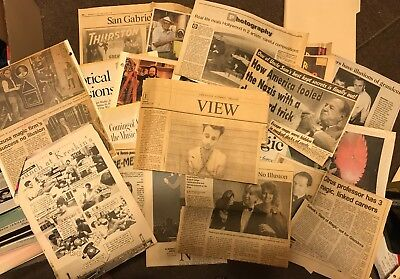 Magicians' Newspaper Clippings Mostly From 1980s-1990s David Blaine Ricky Jay +