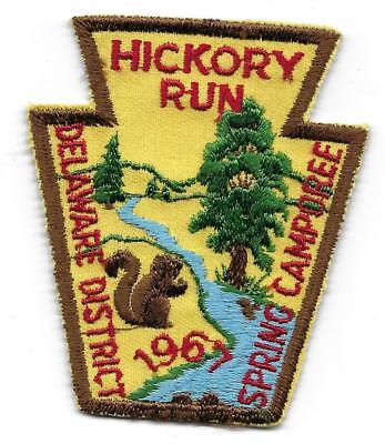 Hickory Run,delaware District Spring Camporee 1967 Vintage Boy Scout Patch