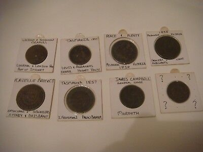australia tokens collection 8 tokens there are in bad condition from deceased es