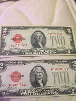 1928 G&F Red Seal $2 Rare 2 dollar bill note Series Two Dollar BILLS